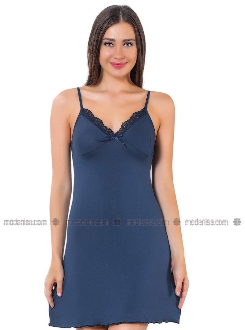 V neck Collar - Navy Blue - Pyjama