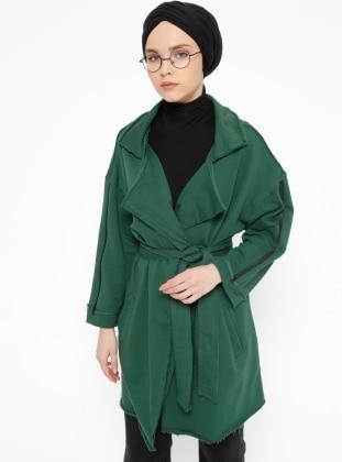 Green – Unlined – Shawl Collar – Jacket – Peramood