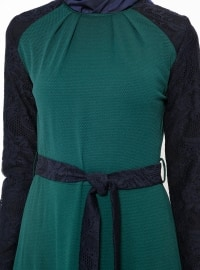 Unlined - Crew neck - Green - Dresses