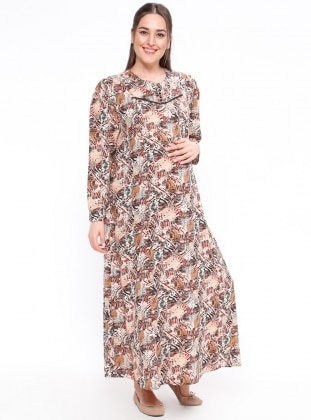 Minc - Multi - Crew neck - Unlined - Maternity Dress