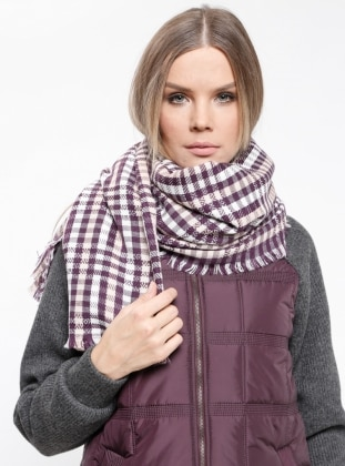 Striped - Purple - Acrylic - Shawl Wrap
