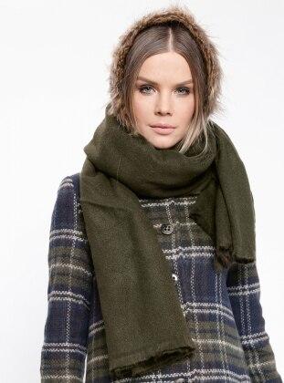 Acrylic - Khaki - Plain - Shawl Wrap