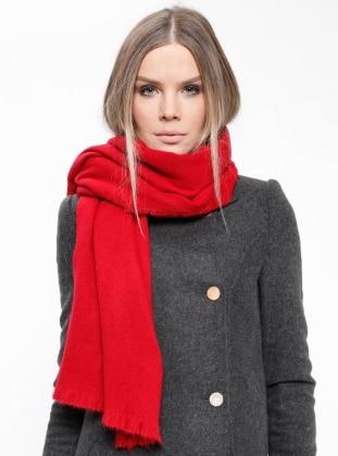 Acrylic - Red - Plain - Shawl Wrap