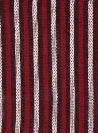 Acrylic - Maroon - Striped - Shawl Wrap