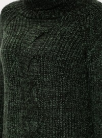 Khaki - Polo neck - Jumper