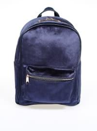 Çanta - Lacivert Kadife - PNK