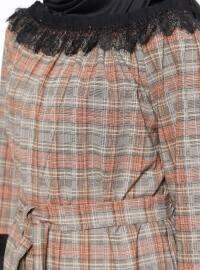 Boat neck - Stripe - Beige - Tunic