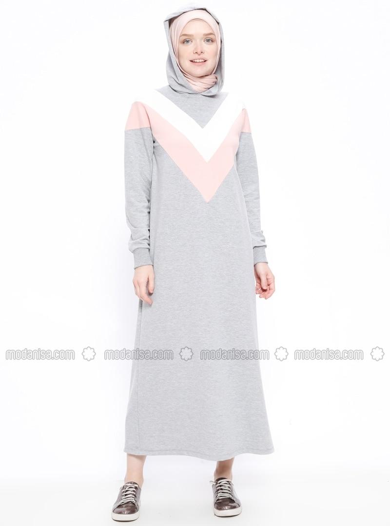 Gray - Unlined - Dresses - Moonlight