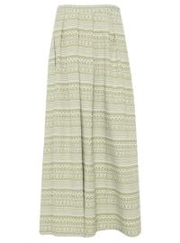 Green - Khaki - Multi - Fully Lined - Skirt