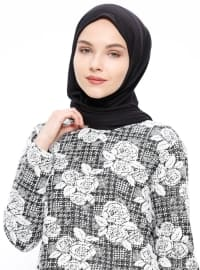 Black - White - Multi - Crew neck - Tunic
