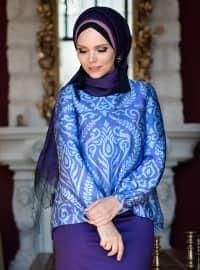 Lale Bluz - Mor - Muslima Wear