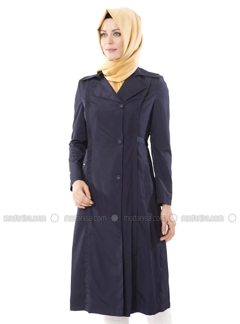 Navy Blue - Shawl Collar - Topcoat