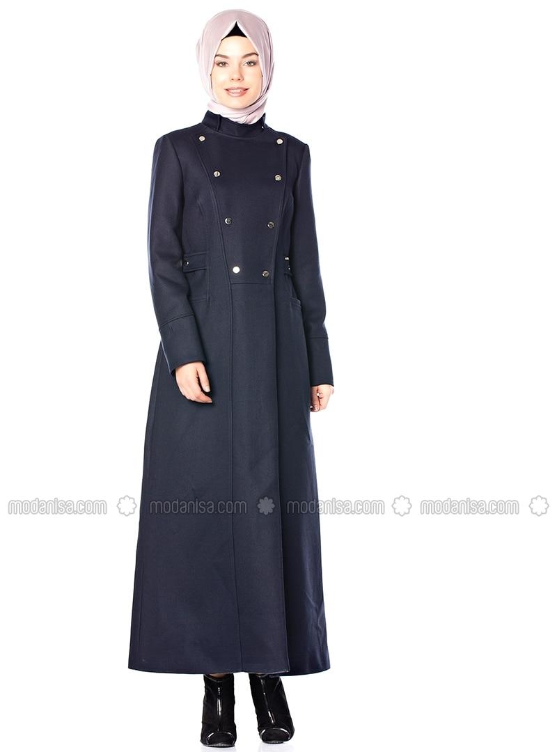 Navy Blue - Polo neck - Topcoat