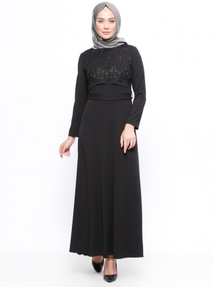Nur Abiye Elbise - Siyah - Amine Hüma Ürün Resmi