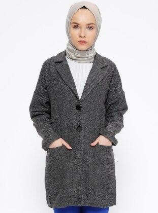 Gray – Fully Lined – Shawl Collar – Jacket – Peramood