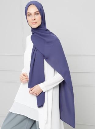 Purple - Plain - Crepe - Shawl - Şal