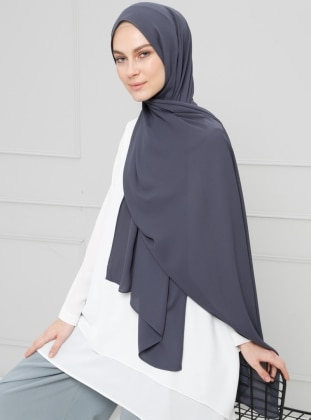 Gray - Plain - Crepe - Shawl - Şal
