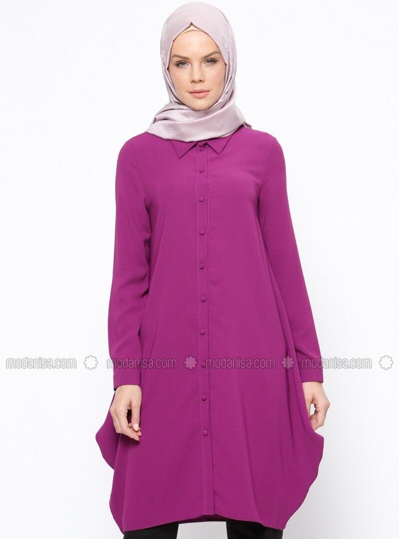 Purple - Point Collar - Tunic