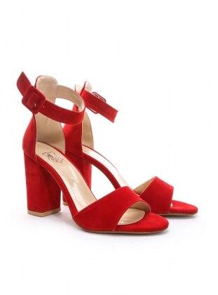 ayakkabı - kırmızı süet - b.f.g polo style