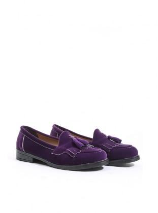 ayakkabı - mor süet - b.f.g polo style