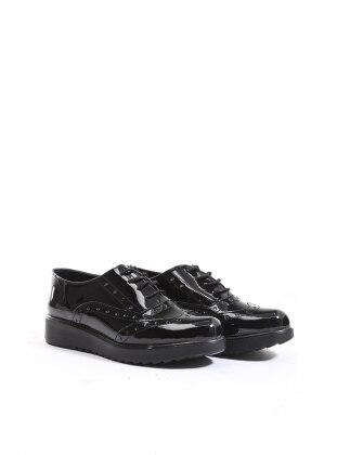 ayakkabı - siyah rugan - b.f.g polo style