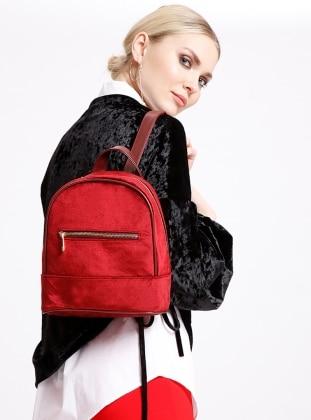 Maroon - Backpack - Bag