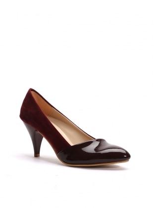 topuklu ayakkabı - bordo rugan - b.f.g polo style