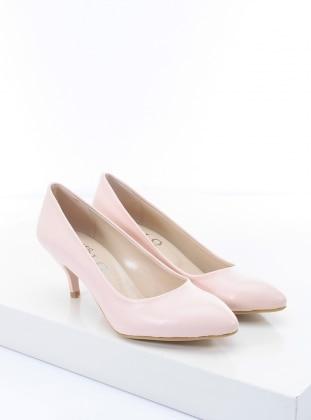 topuklu ayakkabı - pudra - b.f.g polo style