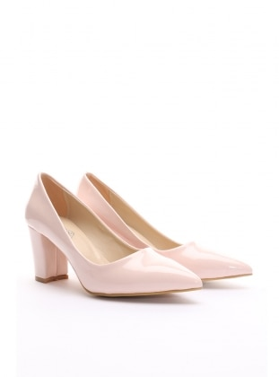 topuklu ayakkabı - pudra rugan - b.f.g polo style