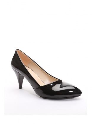 topuklu ayakkabı - siyah rugan - b.f.g polo style
