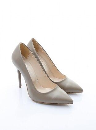 topuklu ayakkabı - vizon - b.f.g polo style