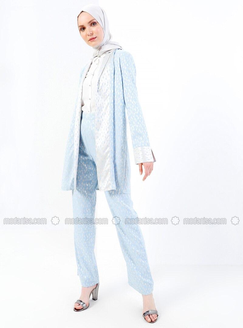 Blue - Floral - Pants
