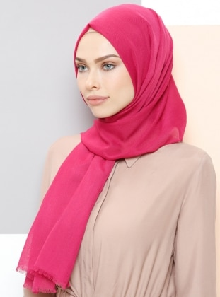 Pink - Plain - Shawl - Aker Sport