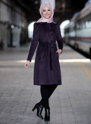 Purple - Unlined - Point Collar - Jacket