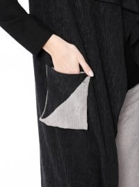 Black - Minc - Unlined - Shawl Collar - Vest
