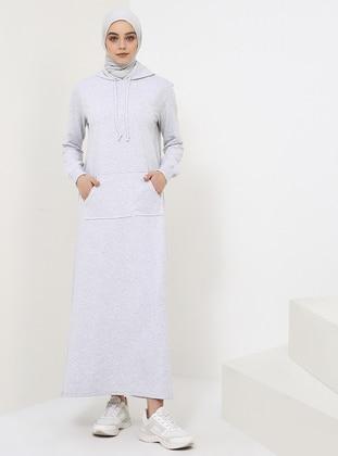 Gray - Unlined - Dress