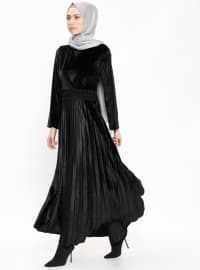 Kadife Elbise - Siyah - Etrucci