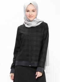 Fermuarlı Ceket - Siyah - Peramood