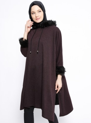 Purple - Unlined - Poncho