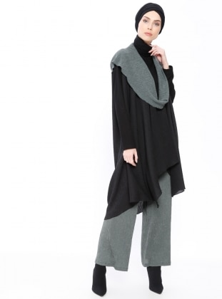 Black - Khaki - Unlined - Poncho