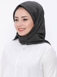 Black - Plain - Viscose - Scarf