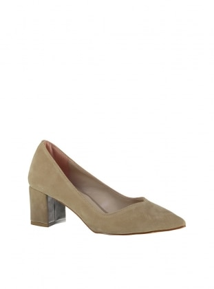 Beige - High Heel - Shoes - Pembe Potin