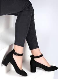 Ayakkabı - Siyah Nubuk - Pembe Potin