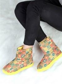 Ayakkabı - Sarı - Pembe Potin