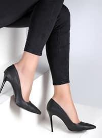 Ayakkabı - Siyah Baskı - Pembe Potin
