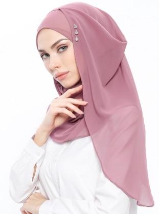 Powder - Pink - Plain - Instant Scarf