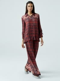 Vual Pijama Takımı - Kırmızı Siyah - Dagi
