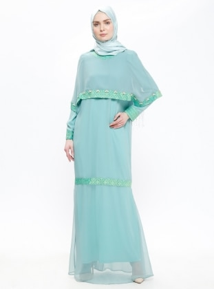 Mint - Green - Crew neck - Fully Lined - Dresses - Think Fashion