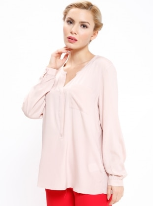 Powder - V neck Collar - Blouses