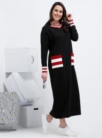 Garnili Elbise - Siyah - Alia